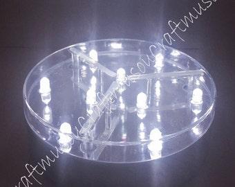 Craftmusou's 4 Piece 4 Inch LED Light Base with 9 White LED Lights
