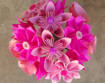 Pink Origami Flower Arrangement