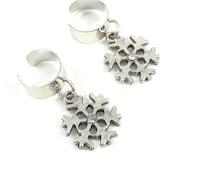 Snowflake Ear Cuffs; Winter Earrings