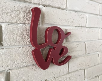 Sign love- Love Wood Sign-  Valentine Decor