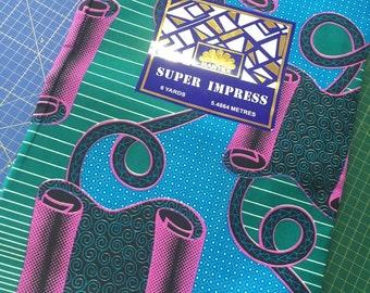Half metre of African Fabric -115cm x 50cm / African Wax Fabric / Ankara Fabric REF 16-032