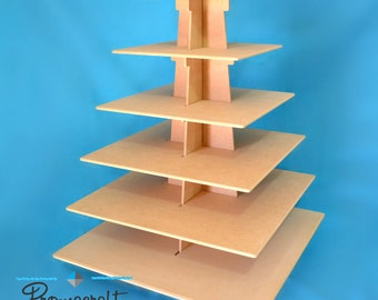 6 tier cupcake stand, square shape, great for weddings, birthdays
