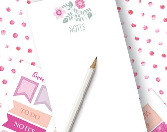 Planner Note Pad | Sweet Jasmine Planner Notepad Available in 4 sizes | Personal Note Pad | Planner Accessory
