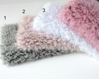 "SALE...18"""" x 20""  or  18"" x  30"" Faux Flokati Fur 12 Colors, Newborn Baby Photo Prop, Flokati Look, Faux Sheep Fur, Luxury Photo Prop,"
