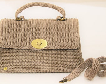 Handbag in beige cord