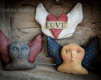 Crabby Gabby Valentine Angel Ornies