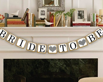Bride To Be Banner - Wedding Party Garland - Bridal Shower Banner - Wedding Banners - Wedding Sign - Just Married