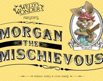 Children's Book: 'Morgan the Mischievous'. Fairytale, woodland, pirate, animal book, kids book, baby book, kids gift, baby gift, baby shower