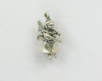 Sterling Silver 3-D Fairy Godmother Charm
