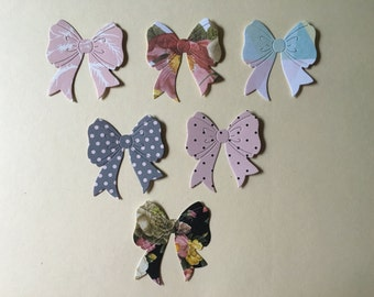 Bow Diecuts -- Set of 6 -- Handmade in USA