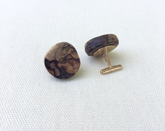 Pecan Wood Cuff Links