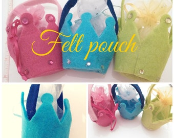 Felt pouch for party & gifts