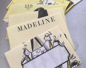 Eight Madeline Upcycled Notes: In an old house in Paris . . .