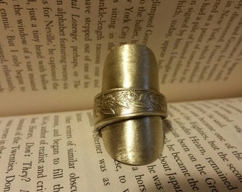 SALE Upcycled vintage silver ring made from an old vintage spoon. Cutlery Jewellery, vintage silver, bespoke, Large, statement, designer.