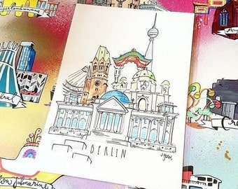 Berlin hand drawn illustration