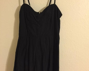 Caged Back LBD Summer Dress