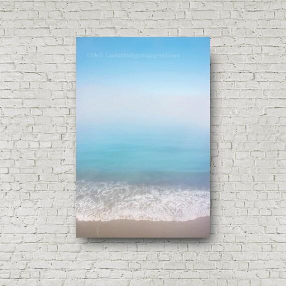 Ocean Photo   Pacific Ocean Art    Blue Ocean Photo   Turquoise Water   Minimalist Ocean Print   California Modern   El Capitan State Beach