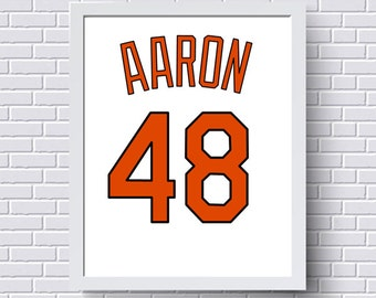 Atlanta braves print poster baseball jersey gift for him baltimore orioles print poster baseball jersey gift for him personalized baby custom negle Choice Image
