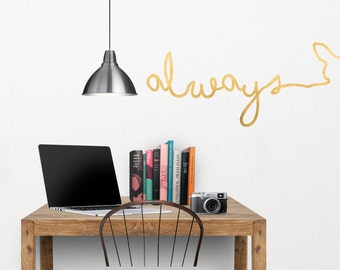 "Harry Potter ""Always"" hand written Doe  Wall Decal. Harry Potter Patronis Wall Decal"