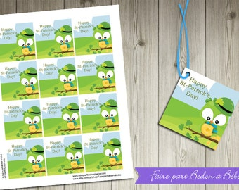 "Printable  -  ""St-Patrick's day"" favor tags - favor tags -"