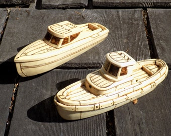 Marquis and Harbor Toy Wooden Boats Set.Natural color.