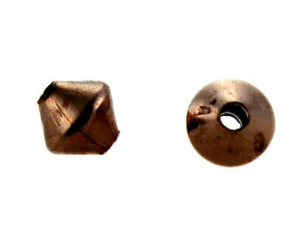 Copper Rhombo Bead 3.2mm (Pkg of 100) (ABCU-RM3)