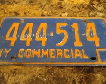 New york license plate