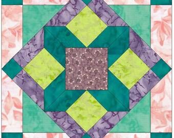 Saddleback Star 15 Inch Block Paper Template Quilting Block Pattern PDF