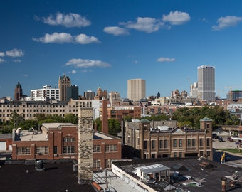 Downtown Milwaukee Skyline Urban Architecture Fine Art Photography by Rose Clearfield on Etsy