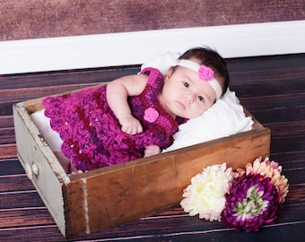 Purple- Pink- Dress - Baby- Flower