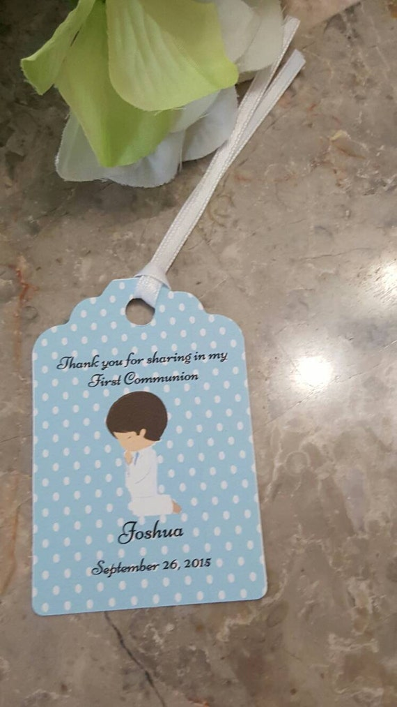 Wedding Gift Tags Canada : Favor Tags 2 1/2, First Communion tags, Thank You tags, Favor tags ...