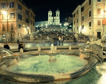 Spanish steps at Night, Rome