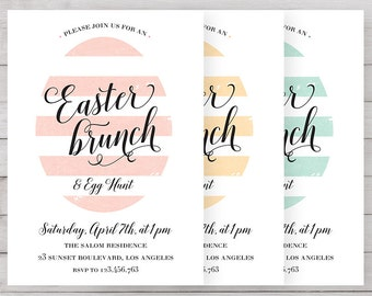 Printable Easter Invitation | Easter Brunch Invitation | Easter Egg Hunt Invitation | Easter | Easter Brunch | Happy Easter | Printable |