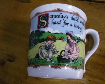 Saturday's Child Birthday Mug