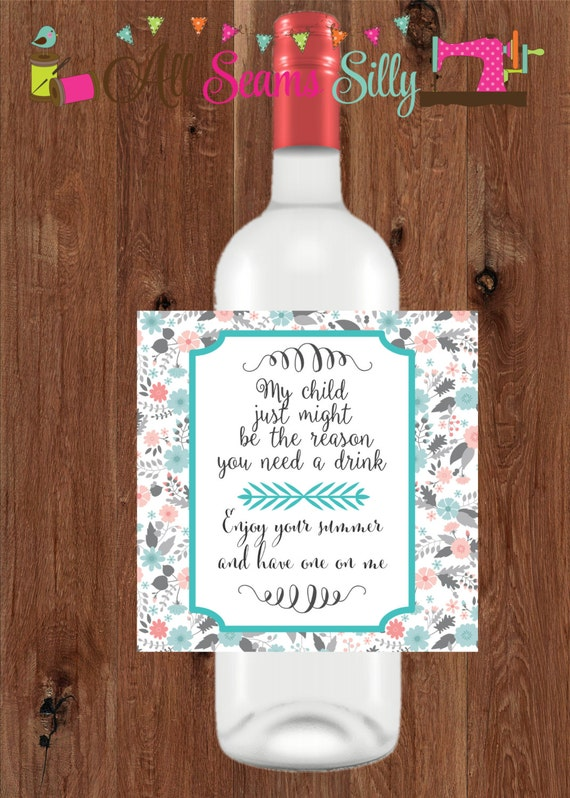 Wine bottle label gift diy printable by allseamssilly for Diy wine bottle gifts