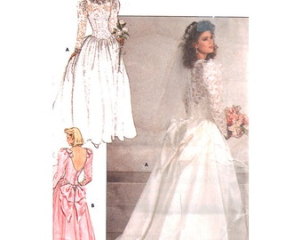 Butterick Sewing Pattern 5990 Misses' Bridal and Bridesmaid Dress  Size:  14-16-18  Uncut