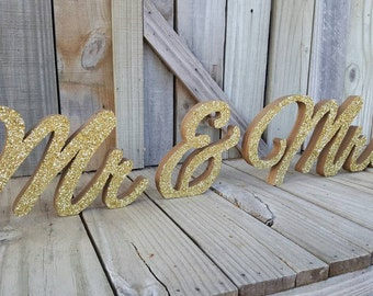 Mr & Mrs Sign, Mr and Mrs,  freestanding,home decor, wedding decor, office decor,master bedroom decor,wooden letters