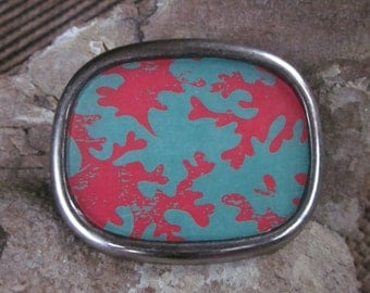 belt buckle Coral belt buckle turquoise belt buckle  resin belt buckle beach mens belt buckle women's accessories boho buckle