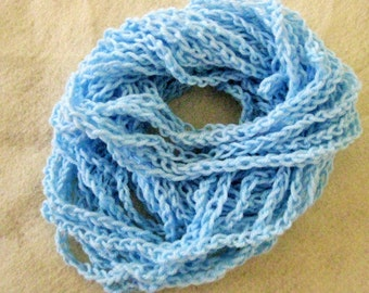 Women's scarf/necklace; light blue