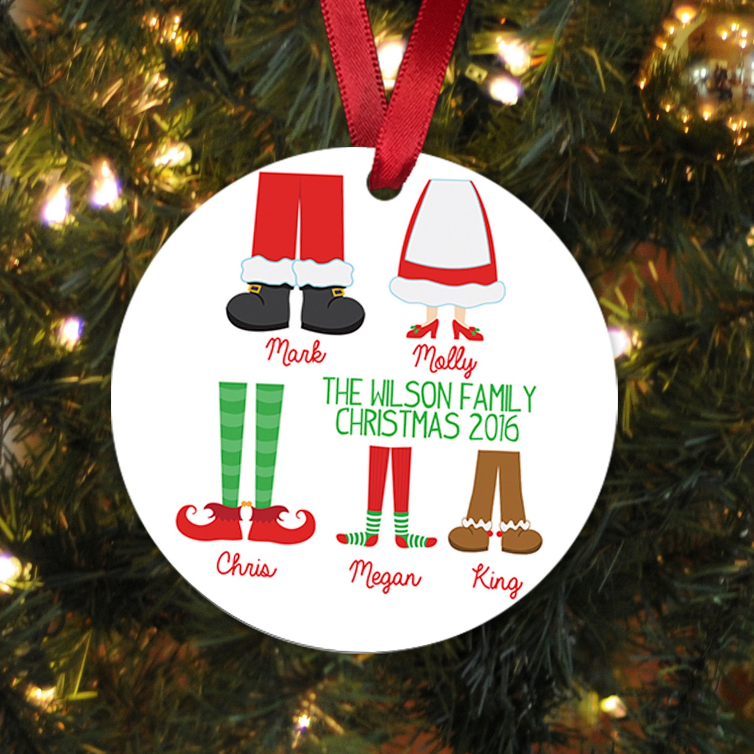 Personalized Family Christmas Ornament Family Christmas Gift
