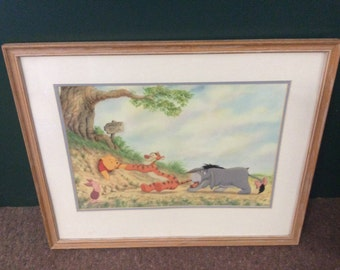 Winne the Pooh Print copyright A.A. Milne and E.H. Shepard