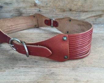 vintage  leather  belt , accessories vintage,