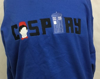 Doctor Who Cosplay Hoodie Costume Embroidered