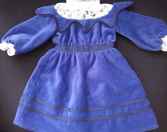 American Girl Samantha's Velvet Dress...From Samantha's First Release...Very Hard to Find...Excellent Condition...Retired