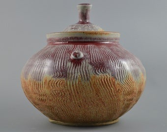 Bone Ash/Celadon Lidded Jar
