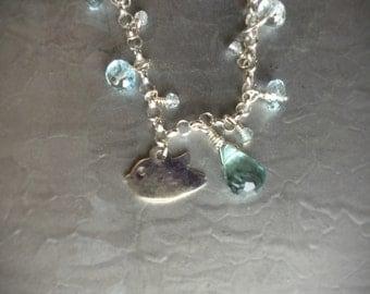 Sparkly Blue Topaz Birdie Bracelet