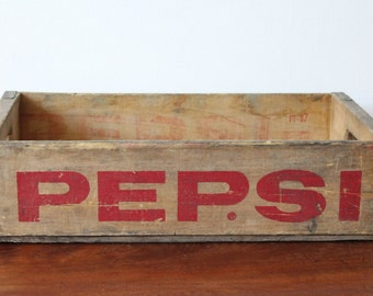 Vintage pepsi Wooden Soda crate - Free Uk delivery