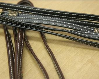 1 PCS, 120cm/ 47 inch Length Slim PU Artificial Leather Sewing Threading Handle Shoulder Bag Purse Strap, #796