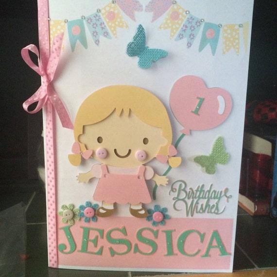 Happy 1st Birthday Card Daughter Card Grandaughter Card