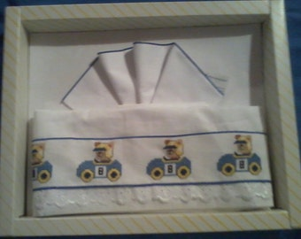 Cross stitch embroidered bed set cot for infant-made to order